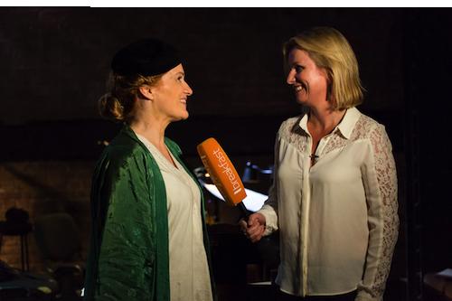 Emma Keeling interviewing Joanne